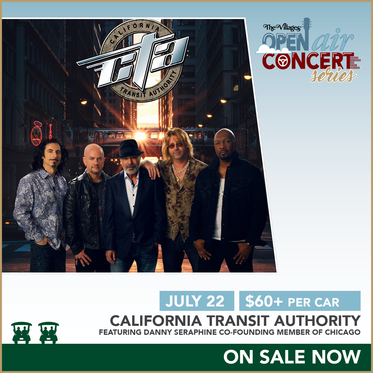 Open Air Concert Series – California Transit Authority feat. Danny Seraphine